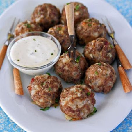 Jalapeño Cream Cheese Cocktail Meatballs