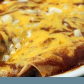 Cheese & Onion Enchiladas with Tex-Mex Chili Gravy