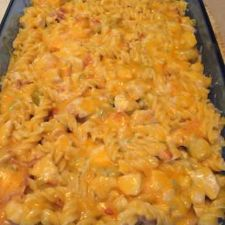 Green Chile Bacon Ranch Chicken Pasta
