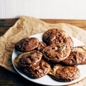 Chocolate and Dulce de Leche Caramel Swirl Cookies