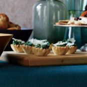 Chipotle Creamed Spinach Phyllo Cups