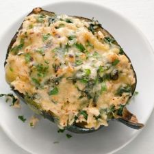 Cheesy Rice-Stuffed Acorn Squash