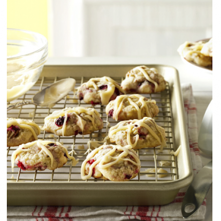 Cranberry Cookies with Brown Butter Glaze