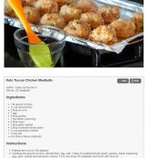 Keto Tuscan Chicken Meatballs