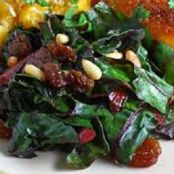 Sauteed Swiss Chard with Raisins and Almonds