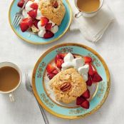 Coconut & Pecan Strawberry Shortcakes