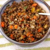 Curried Lentil Salad With Capers & Currants