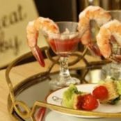 Ceasar Salad Bites and Shrimp & Crab Cocktail