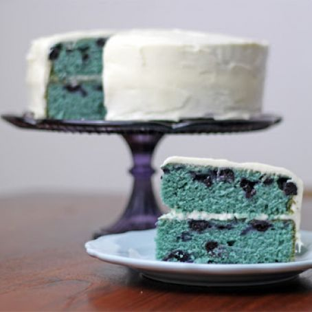 Blueberry Velvet Cake with Cream Cheese Frosting