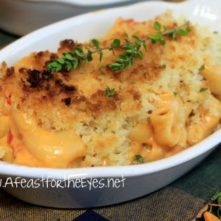 Pressure Cooker 5-Minute Macaroni & Cheese with Tomatoes &  Panko Herb crust