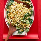 Side- Corn, Feta & Couscous Salad with Basil Vinaigrette