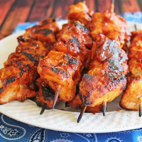 Fabulous Barbecue Chicken Kabobs