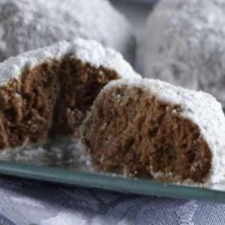 Chocolate Cinnamon Snowballs