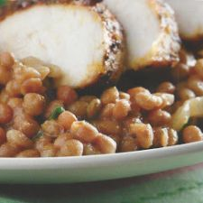 Blackened Chicken and Creole Lentils