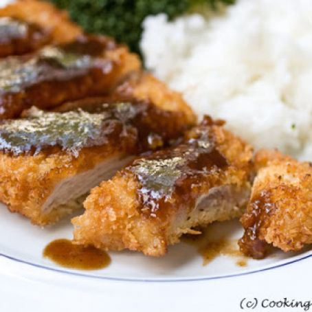 Pork Katsu And Tonkatsu Sauce Japanese Breaded Pork And Dipping Sauce Recipe 4 2 5