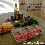 Cilantro Lime Chicken w/ Corn and Black Beans