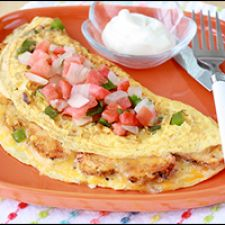 Loaded Chicken Fajita Omelette