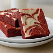Red Velvet Peppermint Swirl Brownies