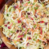 Apple Cranberry and Almond Slaw