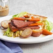 Corned Beef, Cabbage, Carrots & New Potatoes