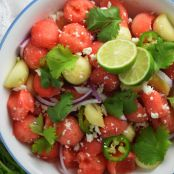 Refreshing Cucumber-Watermelon Salad