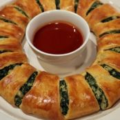 Spinach Dip Wreath