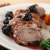Roasted Duck with Blackberrry Sauce