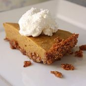 Chiffon Pumpkin Pie with Almond Flour Crust