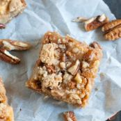 Caramel Honeycrisp Apple Bars