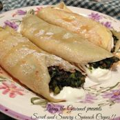 Sweet and Savory Spinach Crepes