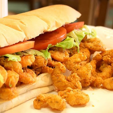 Louisiana Shrimp Po Boy Sandwich