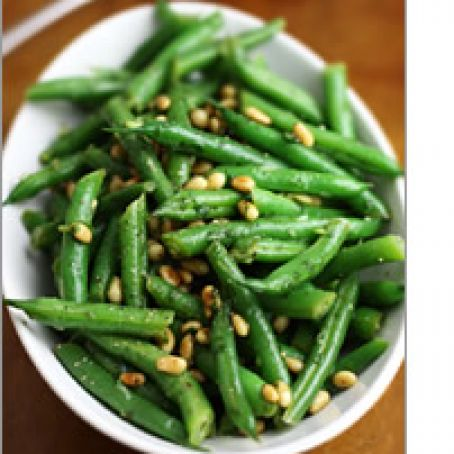Green Bean Salad with Basil and Pine Nuts