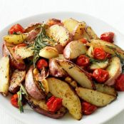 Roasted Potatoes and Tomatoes
