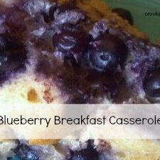 Crock-Pot Blueberry Breakfast Casserole
