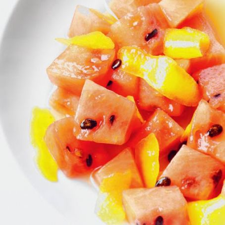 Watermelon with Lemon Syrup