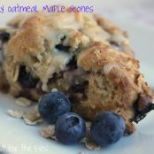 Blueberry Oatmeal Maple Scones