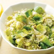 Israeli Couscous with Brussels Sprouts