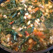 Sausage, White Bean, and Swiss Chard Soup