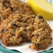 Soft-Baked Oatmeal Raisin Cookies