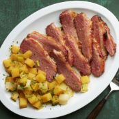 Cider-Braised Corned Beef with Rutabaga