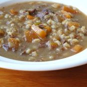 Parsnip and Beef Barley Soup