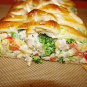 Chicken & Broccoli Braid