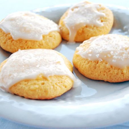 Lemon Pineapple Cake Mix Cookies with Pineapple Glaze