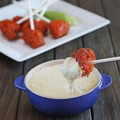Buffalo Chicken Lollipops with Blue Cheese Fondue