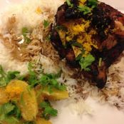Grilled Teriyaki Chicken with Chile Orange Compote