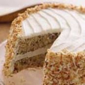 Banana Cake with Cream Cheese Frosting and Toasted Coconut