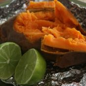 Baked Sweet Potatoes with Chili, Cumin, and Lime