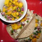 Fish Tacos with Mango Salsa for Two