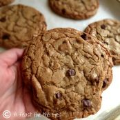 Browned Butter Milk Chocolate Toffee Chip Cookies