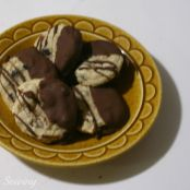 Blueberry Cookies-Chocolate Dipped